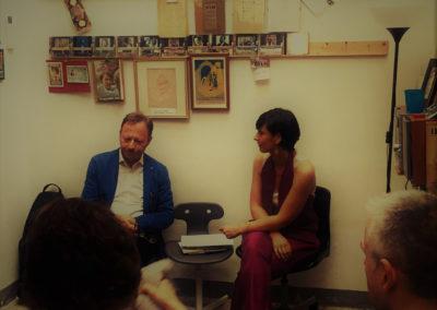 Con Paolo Carlini. Dischi Fenice, Firenze. Giugno 2018.