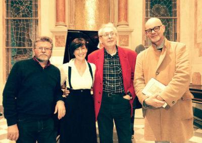 Con Arduino Gottardo, Renzo Cresti e Antonio Agostini. Istituto Musicale P.Mascagni di Livorno. Aprile 2018