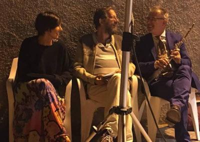 Con Stefano Zenni e Paolo Zampini. Abruzzo, agosto 2017.