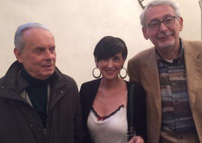 Con Gaetano Giani Luporini e Renzo Cresti