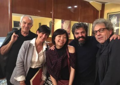 Con i Maestri Sandro Gorli, Diana Soh, Francesco Gesualdi e Stefano Gervasoni.