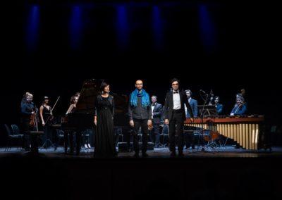 Il concerto dell'arcobaleno di Carlo Prosperi. Con Omar Cecchi e Nima Keshawarzi. Orchestra La Filharmonie. Ph. Claudio Minghi