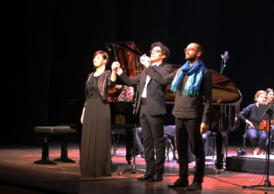 Il concerto dell'arcobaleno di Carlo Prosperi. Con Omar Cecchi, Nima Keshawarzi, orchestra La Filharmonie. Ph. Andrea Politi