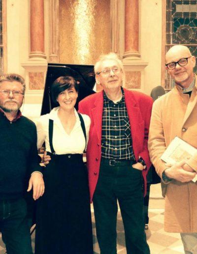 Con Arduino Gottardo, Renzo Cresti e Antonio Agostini. Istituto Musicale 'P.Mascagni' di Livorno. Aprile 2018.